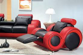 Black Leather Sofa And Chair Franco Modern Leather Sofa Set