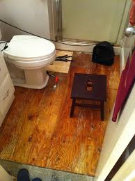 How To Replace Bathroom Subfloor Bathroom Water Damage And Floor Rot Temporary Fix Mojobudgie Com