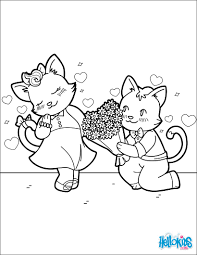 cats in love coloring pages hellokids com
