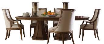 Modern Oval Pedestal Dining Table Sunset Canyon Oval Double Pedestal Dining Table Contemporary Oval
