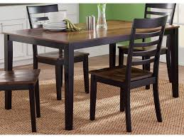 liberty furniture cafe dining rectangular leg table in two tone