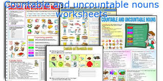 Count And Noncount Nouns Exercises Elementary Teaching Worksheets Countable And Uncountable Nouns