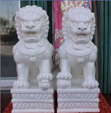 foo lion statue 33 cm a pair of exquisite white porcelain fengshui foo