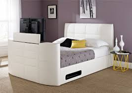 Bed Frame With Tv In Footboard Bedding Best Tv Beds With Built In Tvs Qosy Bed With Tv Built In