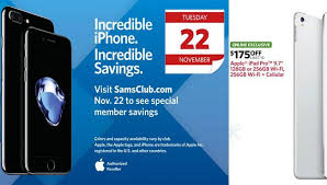 black friday iphone sam u0027s club black friday 2016 deals on apple ipad and iphone