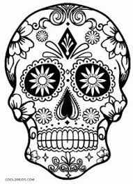 simple sugar skull and day of the dead coloring pages