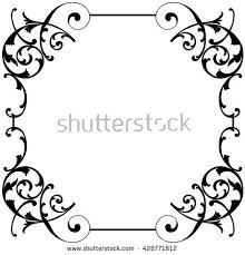 floral vintage ornament vector stock vector 463708604