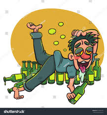 cartoon alcohol cartoon happy drunk man lying on stock vector 319562147 shutterstock