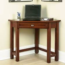 Wood Corner Desks For Home Small Veneered Wooden Corner Desk With Single Drawer For Laptop