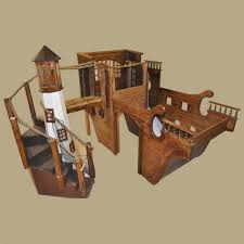 Pirate Ship Bunk Bed Wooden Pirate Ship Indoor Playhouse W Light House This Site Also