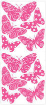 pink velvet butterfly wall stickers decals girls room decor additional images