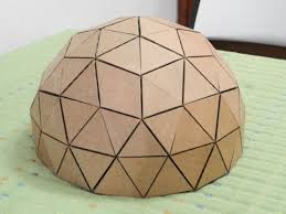 how to make a geodesic dome u0027s scale model with cardboard google