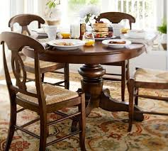 Tivoli Extending Pedestal Table  Napoleon Chair Piece Dining - Pottery barn dining room chairs