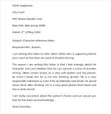 ideas collection personal character reference letters examples