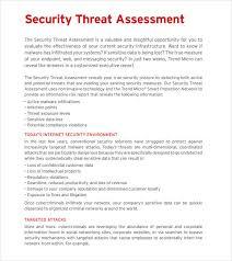 assessment templates threat assessment template threat assessment templates 9free word