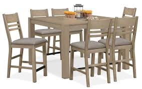 Outdoor Counter Height Chairs Tribeca Counter Height Table And 6 Side Chairs Gray American