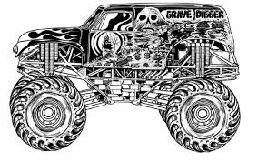 grave digger coloring funycoloring