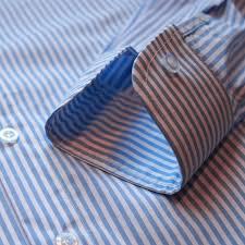 white and blue bengal striped dress shirt efaisto