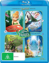 tinker bell 4 movie collection blu ray australia