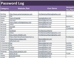 Spreadsheet Tools For Engineers Excel 2007 Pdf Password Log Excel And Pdf Template Password Tracker