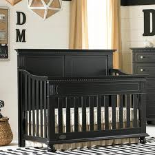 Black Convertible Crib Naples Panel Convertible Crib In Vintage Onyx And Nursery