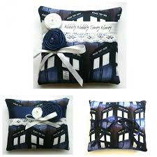 dr who wedding ring dr who tardis wedding ring pillow 3 designs available 6x6