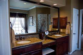 large framed mirrors bathroom transitional with double sinks