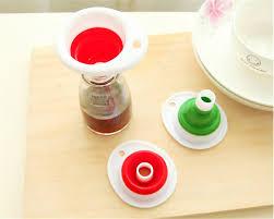 entonnoir cuisine 1 pc creative accueil pliant mini entonnoir cuisine silicone