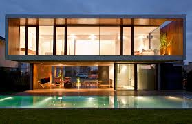 house ff modern open air home overlooking the swimming pool