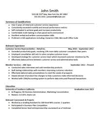 Work Experience Resume Sample Customer Service by Customer Service Representative Resume With No Experience Free