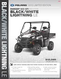 2013 polaris ranger xp 800 black and white lightning polaris