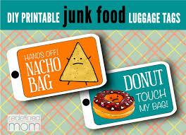 diy printable junk food luggage tags