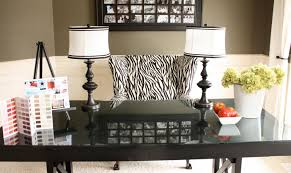 great design ideas using rectangular black wooden tables and