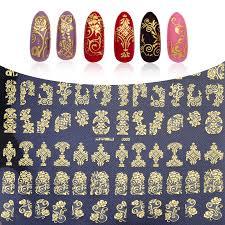aliexpress com buy gold 3d nail art stickers decals 108pcs