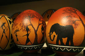 painted ostrich eggs cape point ostrich farm southern most ostrich farm in africa