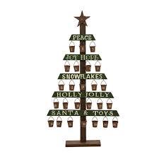 slatted wooden tree width iron count calendar pails joss