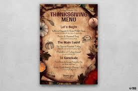 thanksgiving menu template psd design for photoshop v 2