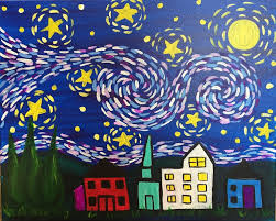 i am going to paint van gogh u0027s starry night kids edition at