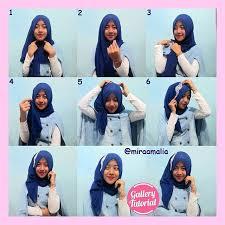 tutorial hijab segi empat paris simple cara berhijab yang simple modern dan modis terbaru