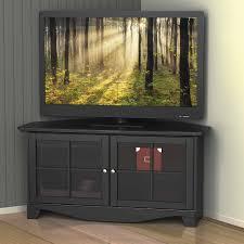 Ideas For Corner Tv Stands Nexera Black 2 Door Corner Tv Stand For Tvs Up To 49