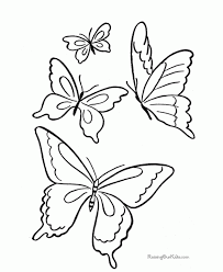 butterfly coloring pages sheets and pictures throughout color