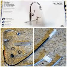 install kohler kitchen faucet how to install a kitchen faucet home made interest