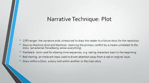 Ex Machina Plot by Literary Techniques Prepared By Camille Quamina What Is Literary