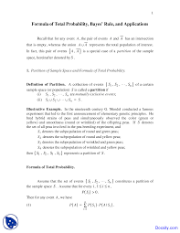 Sets Union Intersection Complement Worksheets Bayes U0027 Rule Probability And Statistics Solved Quiz
