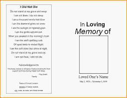Sample Memorial Programs Funeral Service Template Samplememorialprogram Jpg Loan