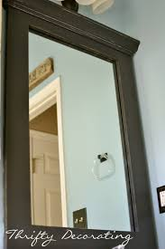 How To Frame A Bathroom Mirror With Crown Molding Thrifty Decorating Frame Your Bathroom Mirror