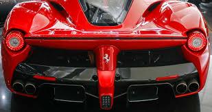laferrari back rosso laferrari with leather interior 68km cars