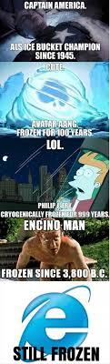 Internet Explorer Meme - still frozen
