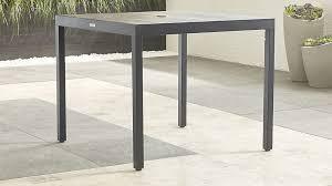 Sofa Table Crate And Barrel Alfresco Grey Outdoor Cafe Table Crate And Barrel