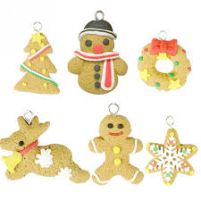 6pcs gift gift classroom ornaments polymer clay
